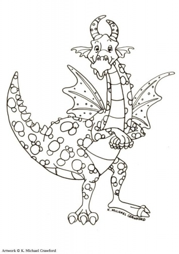 Dragon Coloring Page 17 For Kids And Adults From Peoples Pages Fantasy