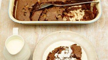 Mega Chocolate Fudge Cake recipe by Jamie Oliver.