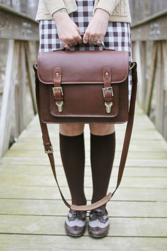 The Brooklyn bag in chestnut, styled by The Dainty Squid
