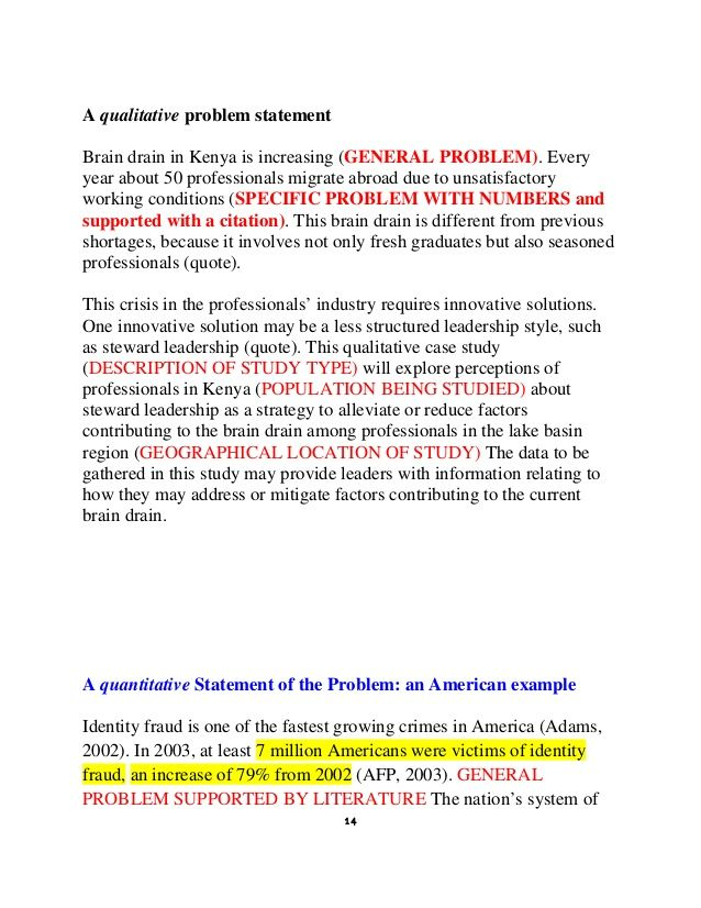 Image Result For Qualitative Problem Statement Examples Problem