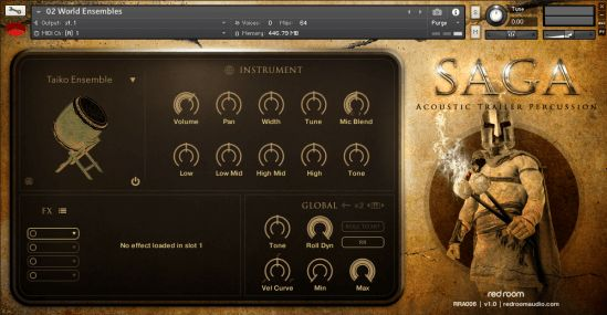 Red Room Audio - Saga – Acoustic Trailer Percussion is an extensive