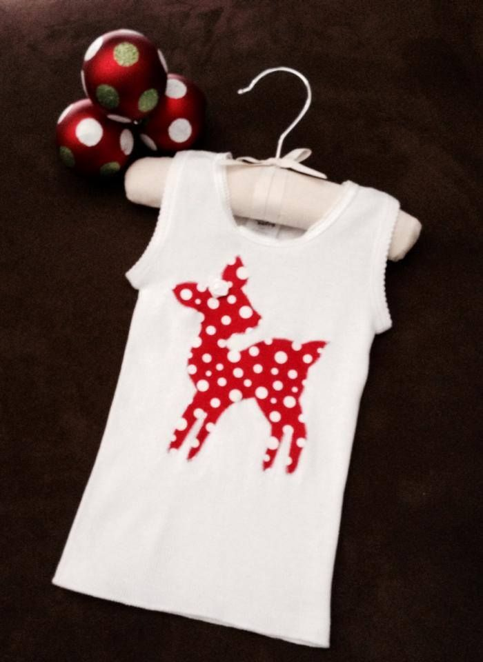 Handmade by Sewing & Alterations by Kimberley Oh deer! Little Singlet Top!