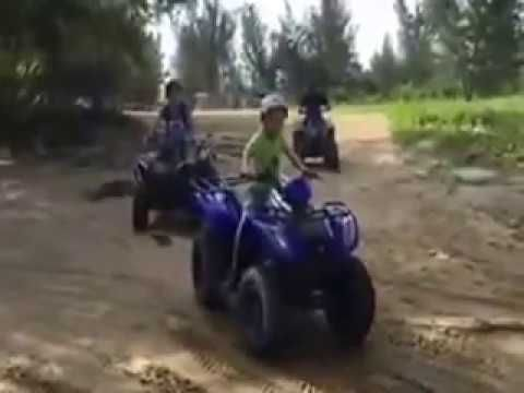 GOTTA SEE IT : Kids Ride Atv Lonely at Brunei