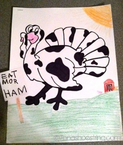 Turkey in Disguise #Thanksgiving  If you're looking for Ham for the holidays visit meachamhams.com