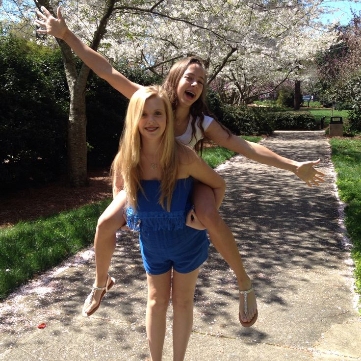 New Relationship Love Quotes: Best Friend Piggy Back Ride Spring Photoshoot Garden