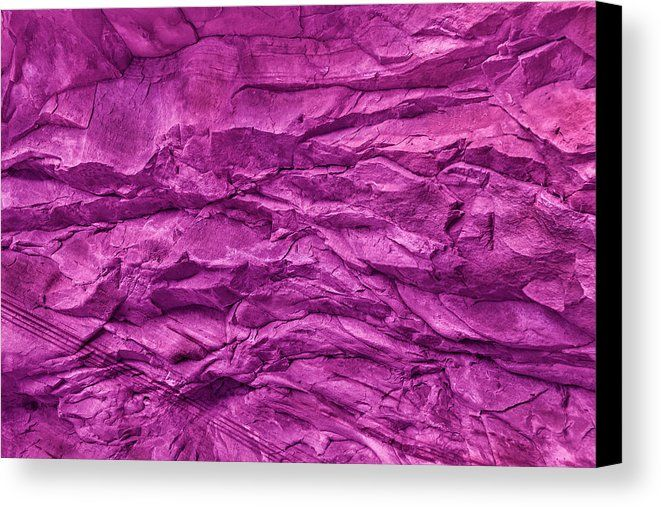 Canvas Print featuring the photograph Stone Wall Texture In Pink by Evgeniya Lystsova. Natural Abstract and Background! Bring your artwork to life with the texture and depth of a stretched canvas print. Great Wall Art for your Home / Office Decor and Interior Design! #EvgeniyaLystsovaFineArtPhotography #Landscape #Mountains #Travel #Prints #Canvas #HomeDecor #Zion