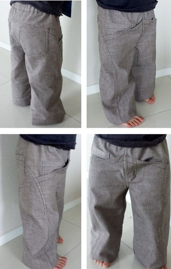 Childrens Primo Pants PDF Pattern. Like the curved seam, but dislike the front pockets, so would probably eliminate.