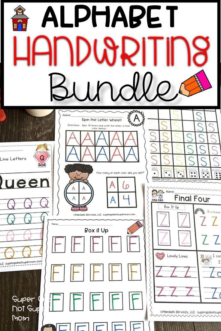 Alphabet Handwriting Worksheets Super God Not Super Mom Alphabet Activities Preschool Handwriting Worksheets Handwriting Practice Preschool [ 1104 x 736 Pixel ]