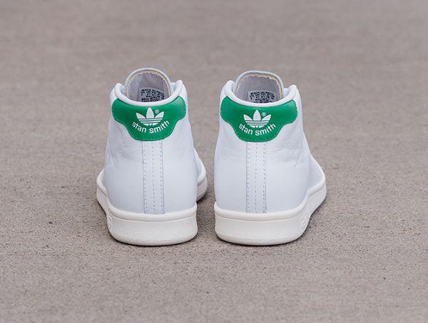 Adidas Stan Smith Mid White  Green  Chalk White (3)