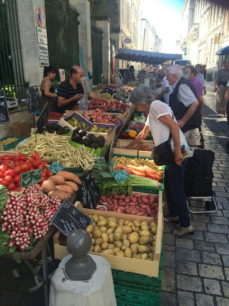 Friday market La Rochelle. France