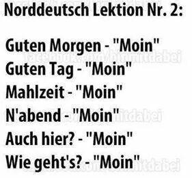 Moin! …