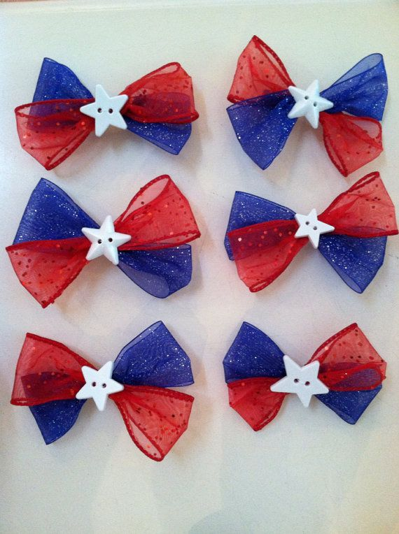 Fourth of July hairbows!