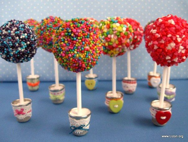 Cute tiny candy trees