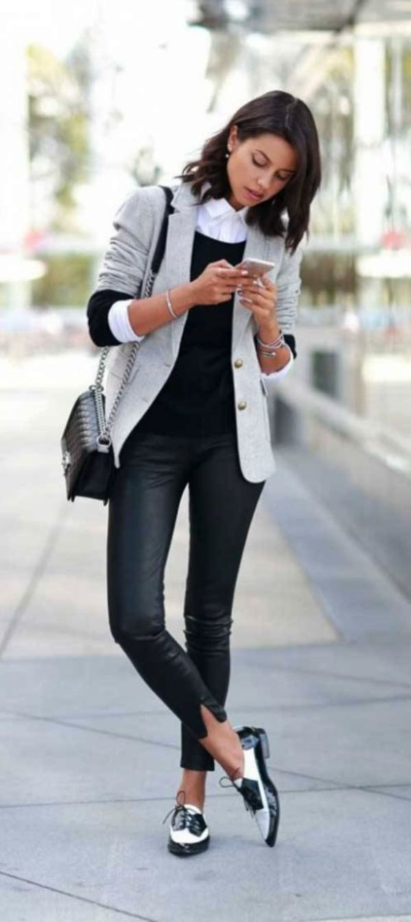 casual work outfits ideas #oxfordoutfit