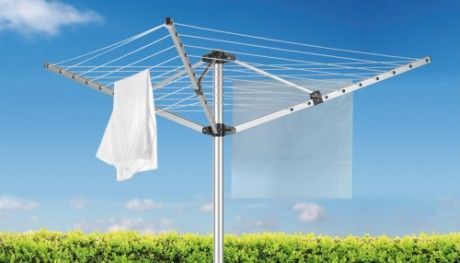 Outdoor Rotary Clothes Airer With Blue Sky