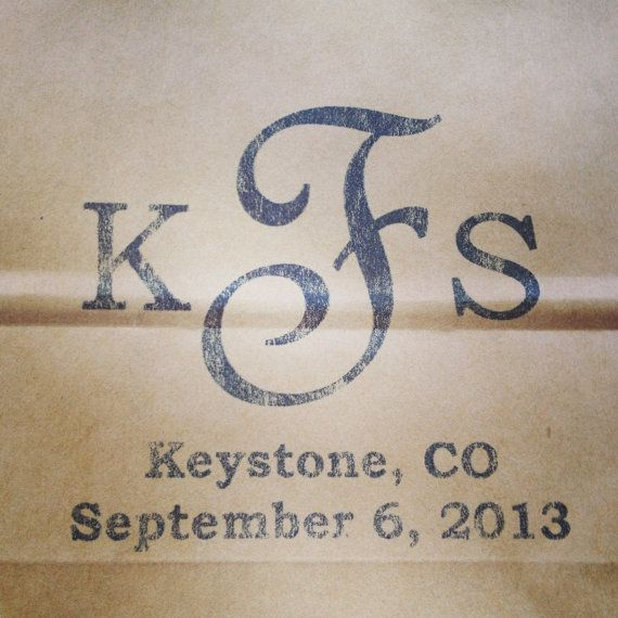 """120 Custom Designed and Printed Brown Wedding Welcome Bags or Wedding Favor Bag 8"""" x 10"""" Black and White on Etsy, $1.00"""