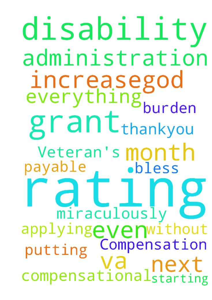 Veteran's Disability Compensation -  Please pray that the va disability administration grant me 100 compensational rating all payable starting next month. That they will be burden to just grant it to me miraculously this rating without my even putting in for it or applying for an increaseGod bless you all with everything you are praying for and have need of in Christ Jesus name amen Thankyou  Posted at: https://prayerrequest.com/t/nXY #pray #prayer #request #prayerrequest