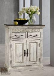 Sideboard - Massive Möbel aus der Serie CASTLE ANTIK. Mit weißem Wachs behandeltes Mangoholz verbindet sich mit dunkel lackierter Akazie. • Alle Produkte und Infos zur Möbel-Serie in unserem Onlineshop: www.massivmoebel24.de