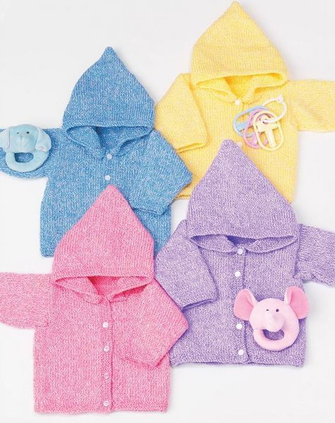 Simple Baby Hoodies   These simple knit hoodies are a great casual option for little ones.