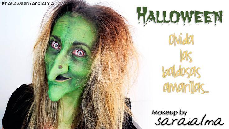 Maquillaje de bruja para halloween - Elphaba wicked makeup tutorial