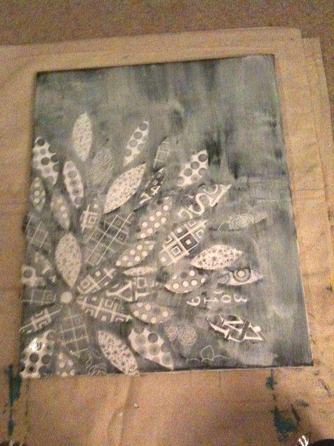 DIY Canvas Flower With Scrapbook Paper | Riss Home Design | Riss Home Design | Home Decor, Design and DIY Blog