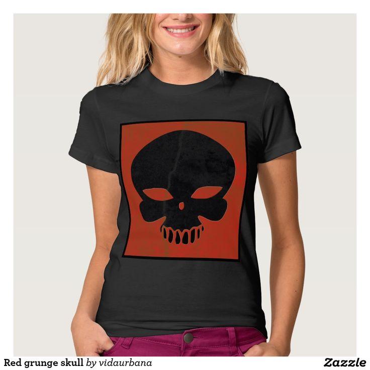 Red grunge skull