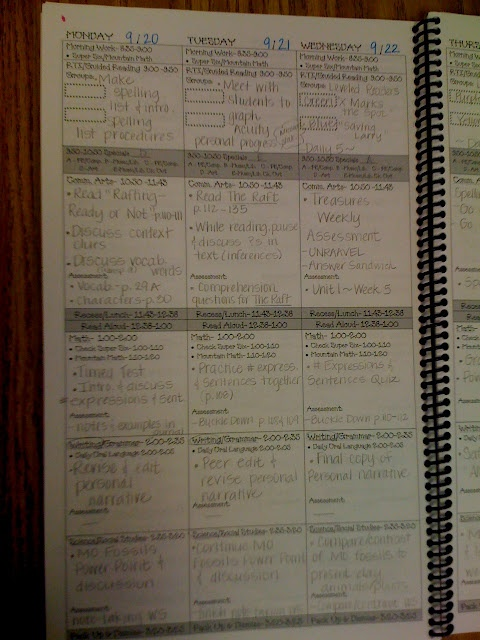 lesson plan book on legal-size paper--take to office max for binding