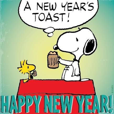 Great way to start the new year: a root beer toast!