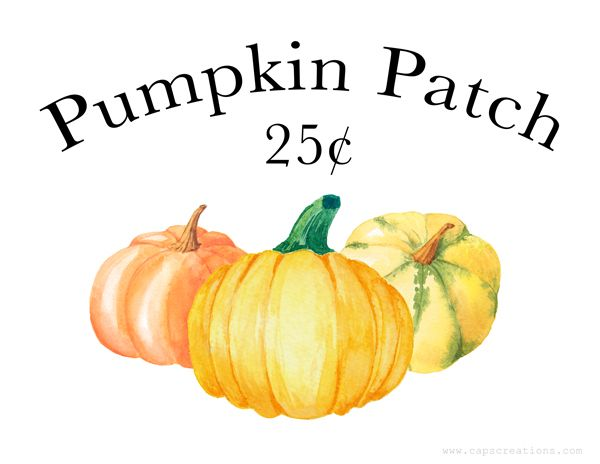 Cap Creations With Images Free Pumpkin Patch Fall Printables