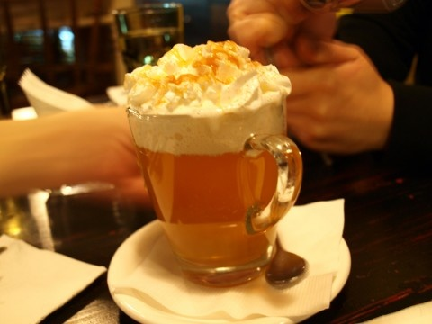 part run, 3 parts hot apple cider, whip cream and cinnamon. alcohol ...