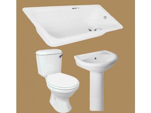 White Thandi Bathroom Set