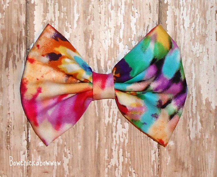 Oversized Tye Dye Hair Bow Retro Style For S 7 00