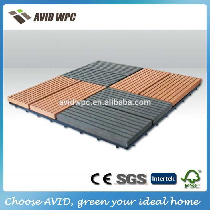 Buena calidad a prueba de agua wpc decking azulejos 30X30