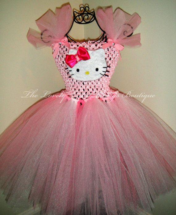 Hello Kitty Tutu Dress by lovelylittlethings1 on Etsy...