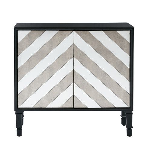 Found it at Joss & Main - Everberg Chevron Mirror Accent Chest
