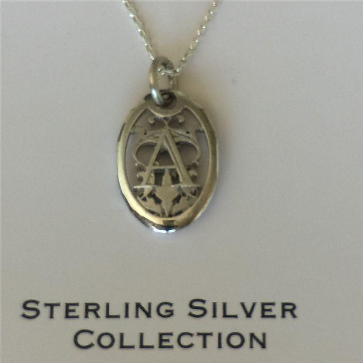 Sterling Silver vintage initial pendants.