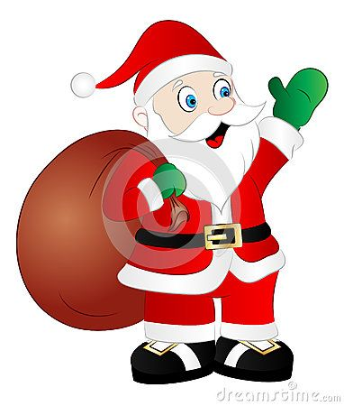 Cartoon Santa Claus Vector Illustration.
