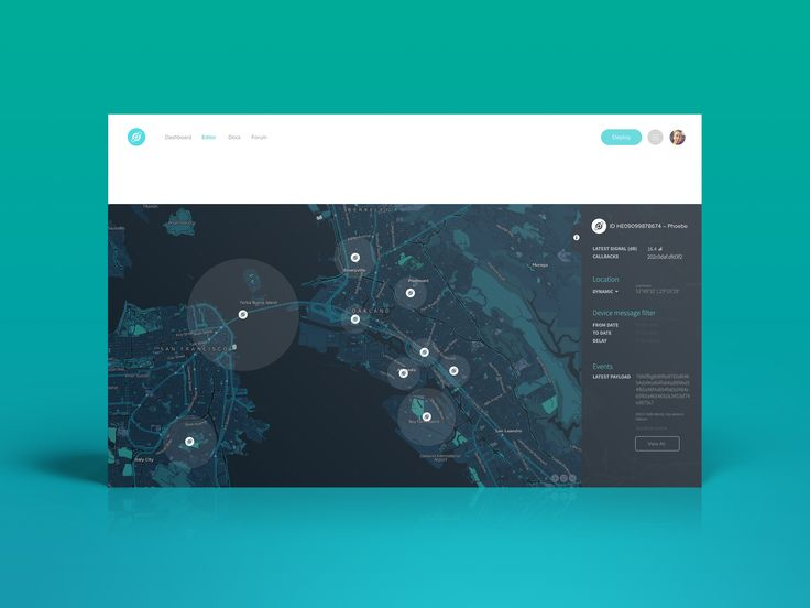 Helium Map Dashboard User Interface | Flat UI Design