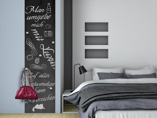 Ideal Garderobe aus Tafelfolie selbst machen So geht us Tafelfolie fl chig anbringen Platz f r die