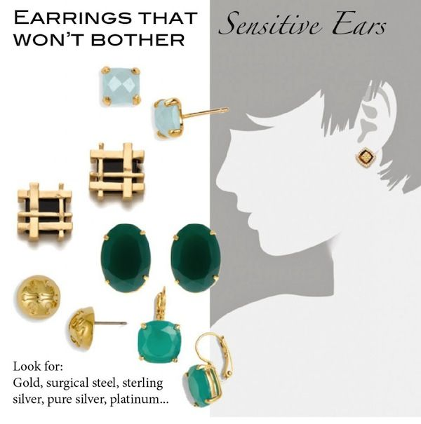 Stylish and cost-effective earrings for sensitive ears