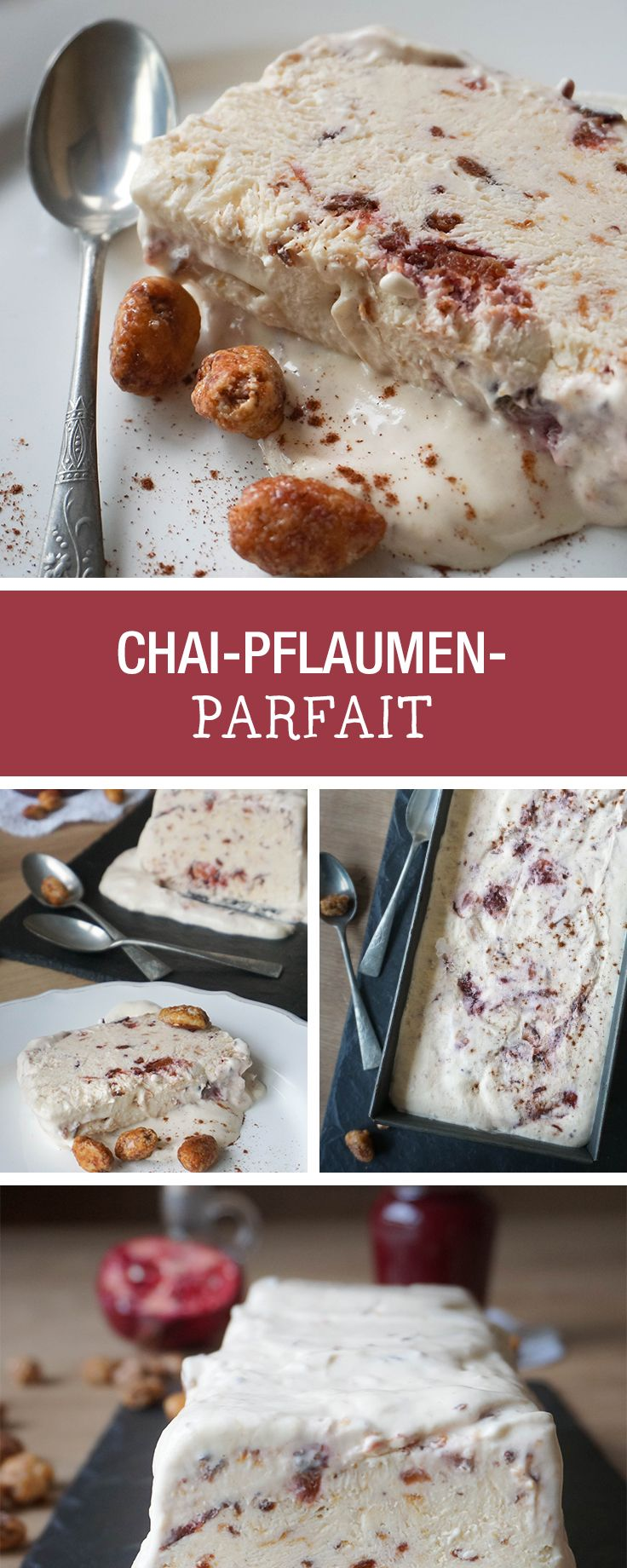 Süßes Rezept für die Weihnachtsparty: Parfait mit Chai-Pflaumen / christmas recipes: parfait with chai plums via DaWanda.com