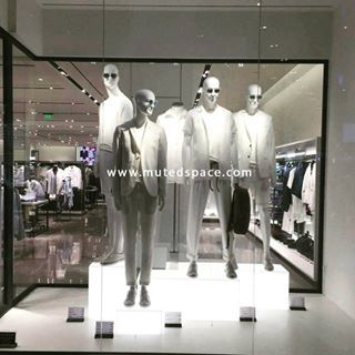 All white !  Simple and effective  Mannequin army window display  Your product speaks loud when displayed in correct manner.. #visualmerchandising#mannequindisplay#mannequin#display#windowdisplay#retail#design#allwhite#display#white#summers#fashion#trend#crossmerchandising#inspiration#staycurious#stayinspired