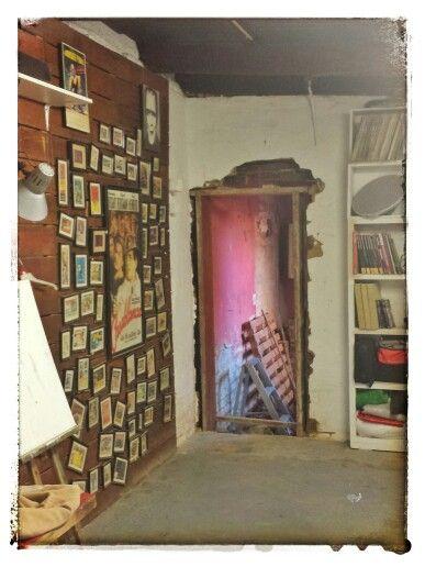 Doorway to the new bathroom in my Studio