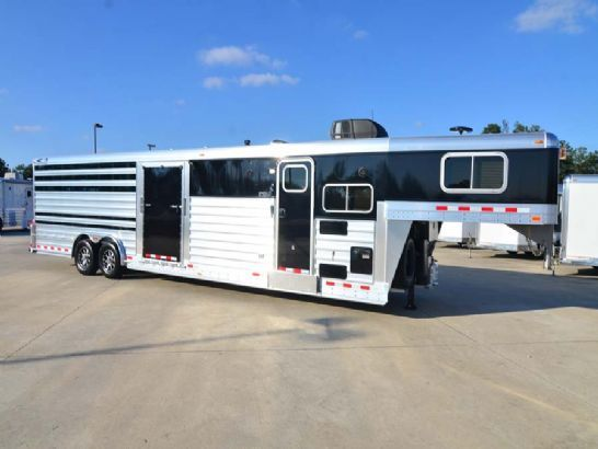Horse Trailers Houston Texas | SHOW CATTLE TRAILER W/PROLINE LIVING QUARTERS W/BUNK BED | GC 4 Star