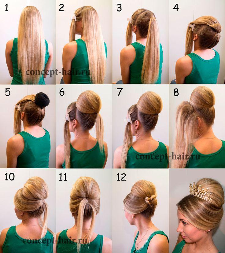 Укладка волос пошаговая инструкция