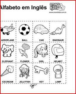 INGLES PARA NIÑOS (FICHAS): julio 2009
