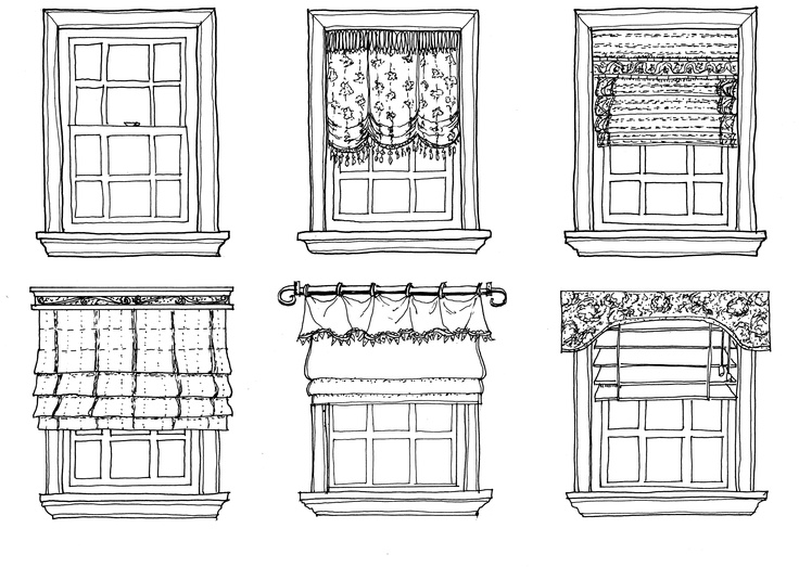 It Was Fun To Challenge Myself Draw A Series Of Window Treatments As I Am Gaining More Confidence In My Drawing Skills Like Working With Subjects