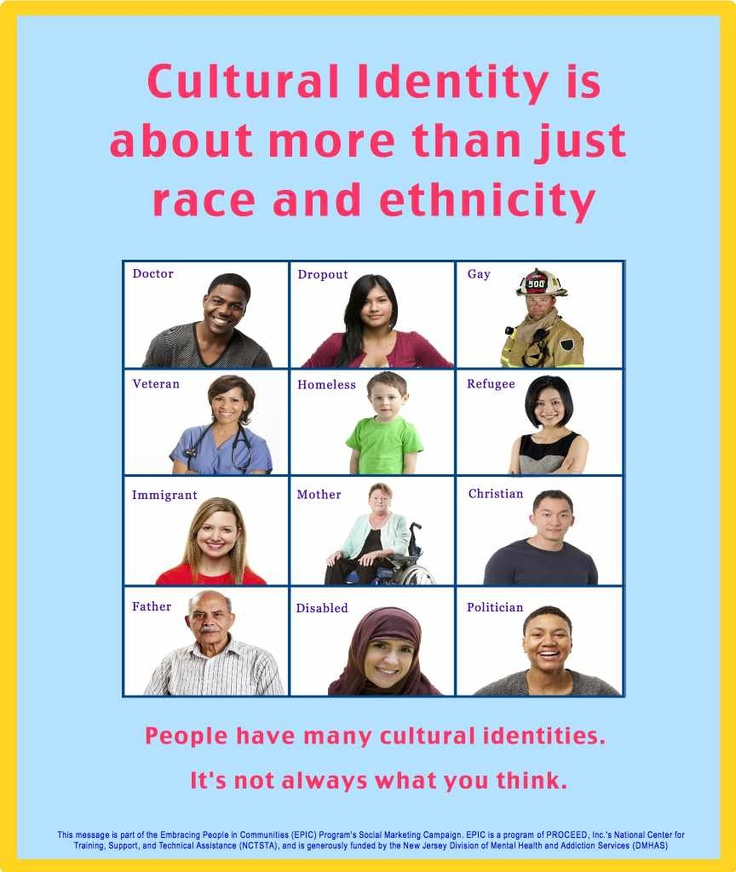 """""""Cultural Identity is about more than just race and ethnicity. People have many cultural identities. It's not always what you think."""" #diversity #clc #bekind"""