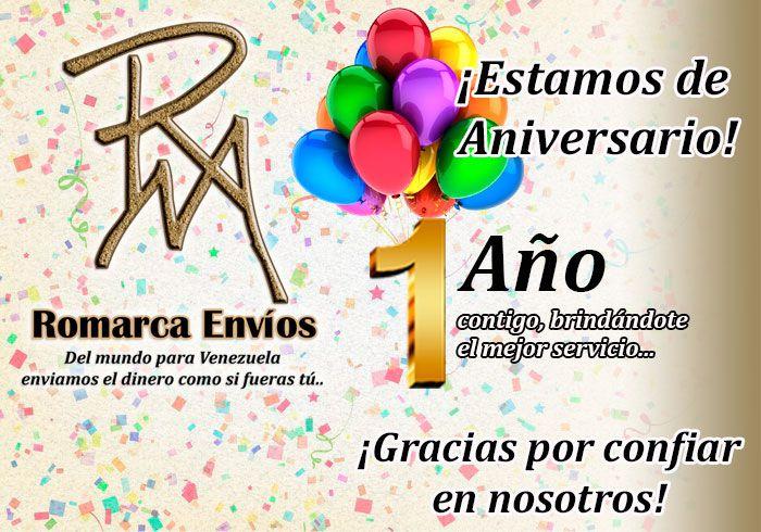 ¡En ROMARCA ENVIOS Estamos de ANIVERSARIO! #RomarcaEnvios #AniversarioRomarca #UnAño