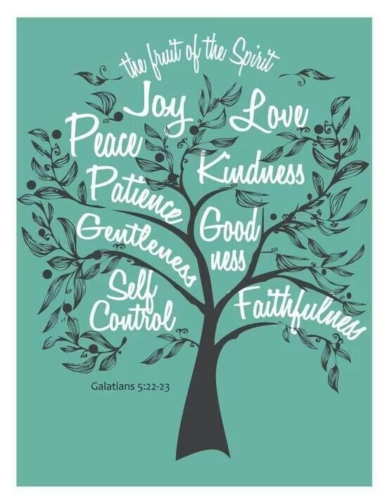 The Fruit of the Spirit... Scripture - Gal 5:22-23